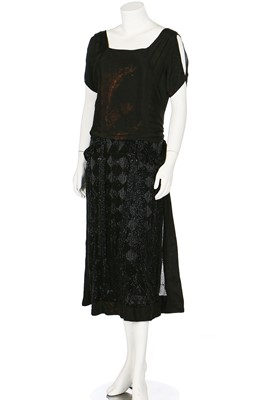 Lot 74-A fine and early Gabrielle Chanel couture 'Little Black Dress', circa 1921