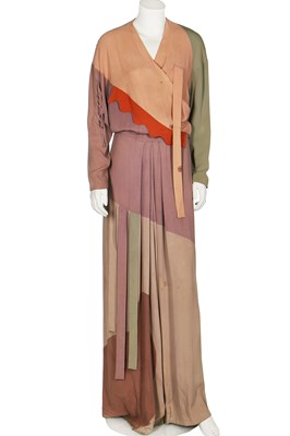 Lot 87-A rare Gilbert Adrian moss crêpe 'Shades of Picasso' gown, 'Modern Museum' collection, 1945