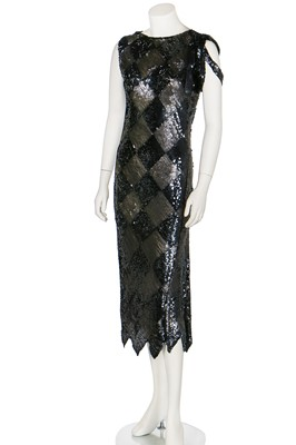 Lot 71-A sequinned cocktail dress, possibly Paul Poiret, 1929