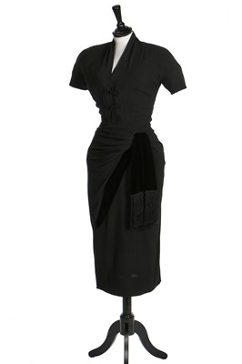 Lot 92-An early Pierre Balmain couture dinner gown, circa 1949