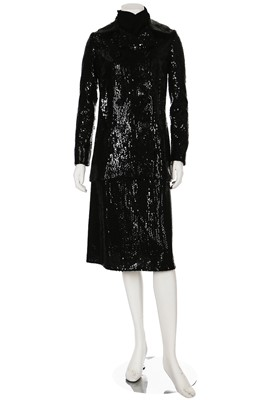 Lot 91-A Bill Blass black sequinned cocktail ensemble, late 1960s-early 1970s