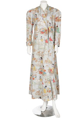 Lot 68-A dressing gown printed with Walt Disney's 'Snow White' characters, circa 1937