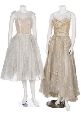 Lot 86-Ten bridal or ball gowns/dresses, 1950s-early 1960s