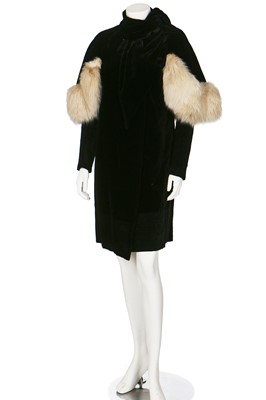 Lot 69-An early Victor Stiebel velvet evening coat, early 1930s