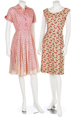 Lot 87-A large group of summer clothing, mainly 1950s