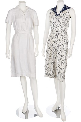 Lot 23-A group of beach and summerwear, mainly 1930s