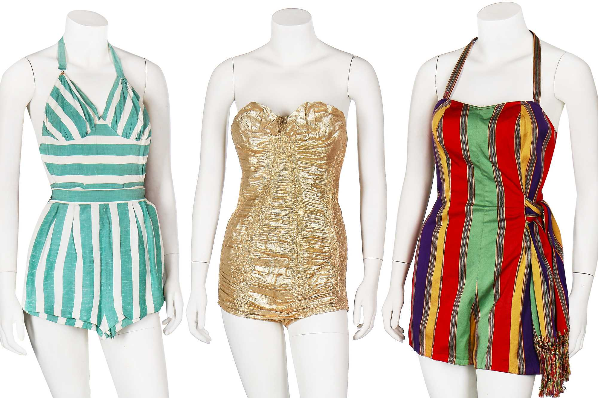 Lot 24-A large group of swimwear, mainly 1950s