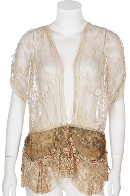 Lot 25-A large group of bridal and ivory eveningwear, 1930s-40s