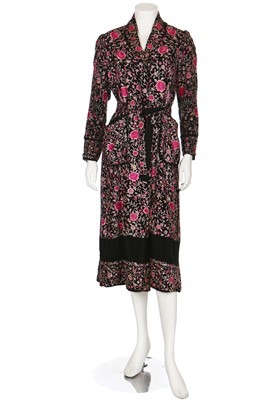 Lot 29-A Cantonese embroidered silk evening coat/robe, 1930s
