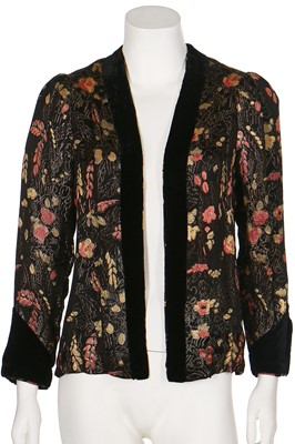 Lot 35-A floral lamé evening jacket, 1930s