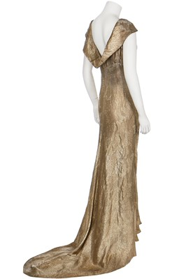 Lot 40-Two good bias-cut lamé evening gowns, 1930s