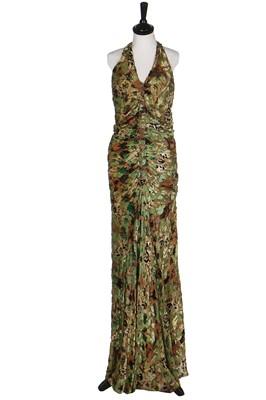 Lot 40-Two good bias-cut lamé evening gowns, 1930s