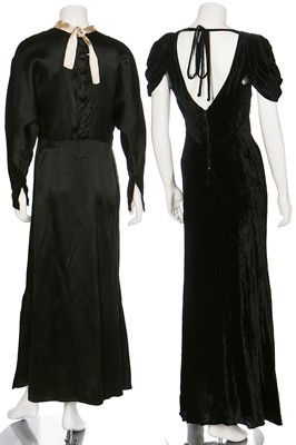 Lot 46-Eight evening gowns, 1930s