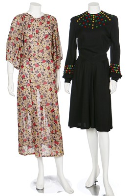 Lot 50-A good group of day and dinner wear, 1930s