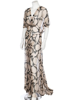 Lot 56-Three floral printed chiffon garden-party dresses, 1930s