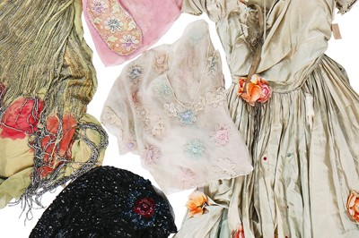 Lot 14-A large quantity of mainly 1920s damaged dresses and remnants