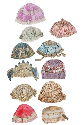 Lot 11-A group of boudoir caps and lingerie, mainly 1920s-30s