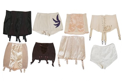 Lot 63-A group of bras and girdles, dating from the 1930s to the 1960s