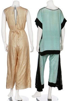 Lot 12-A group of lounging pyjamas, playsuits and Japanese inspired lingerie, 1920s-30s