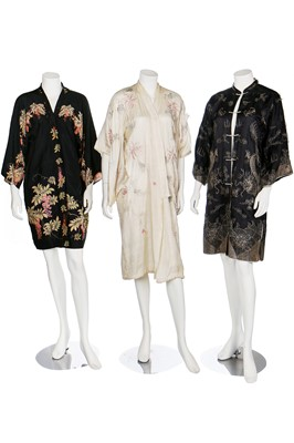 Lot 64-A group of kimonos and housecoats, mainly 1930s