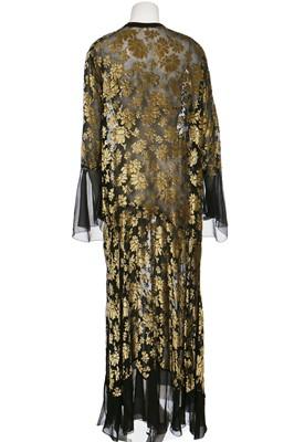 Lot 8-A floral devoré velvet dress in rare larger size, late 1920s
