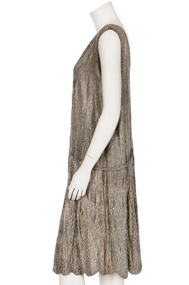 Lot 2-A beaded lamé flapper dress, late 1920s