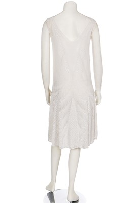 Lot 4-A beaded white muslin flapper dress, mid-1920s