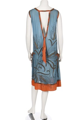 Lot 18-An interesting beaded flapper dress, mid 1920s