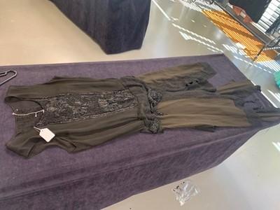Lot 37 - A beaded black chiffon and crêpe evening dress, early 1920s