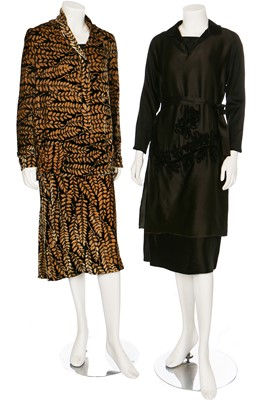 Lot 9-A good group of mainly velvet clothing, 1920s