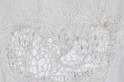 Lot 17-Ten lace and white-worked summer dresses, 1920-30s