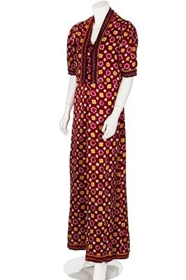 Lot 82-A Jeanne Lanvin couture tie-dyed silk evening ensemble, Autumn-Winter 1937-38