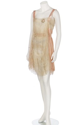 Lot 72-A Boué Sœurs embroidered slip, late 1920s