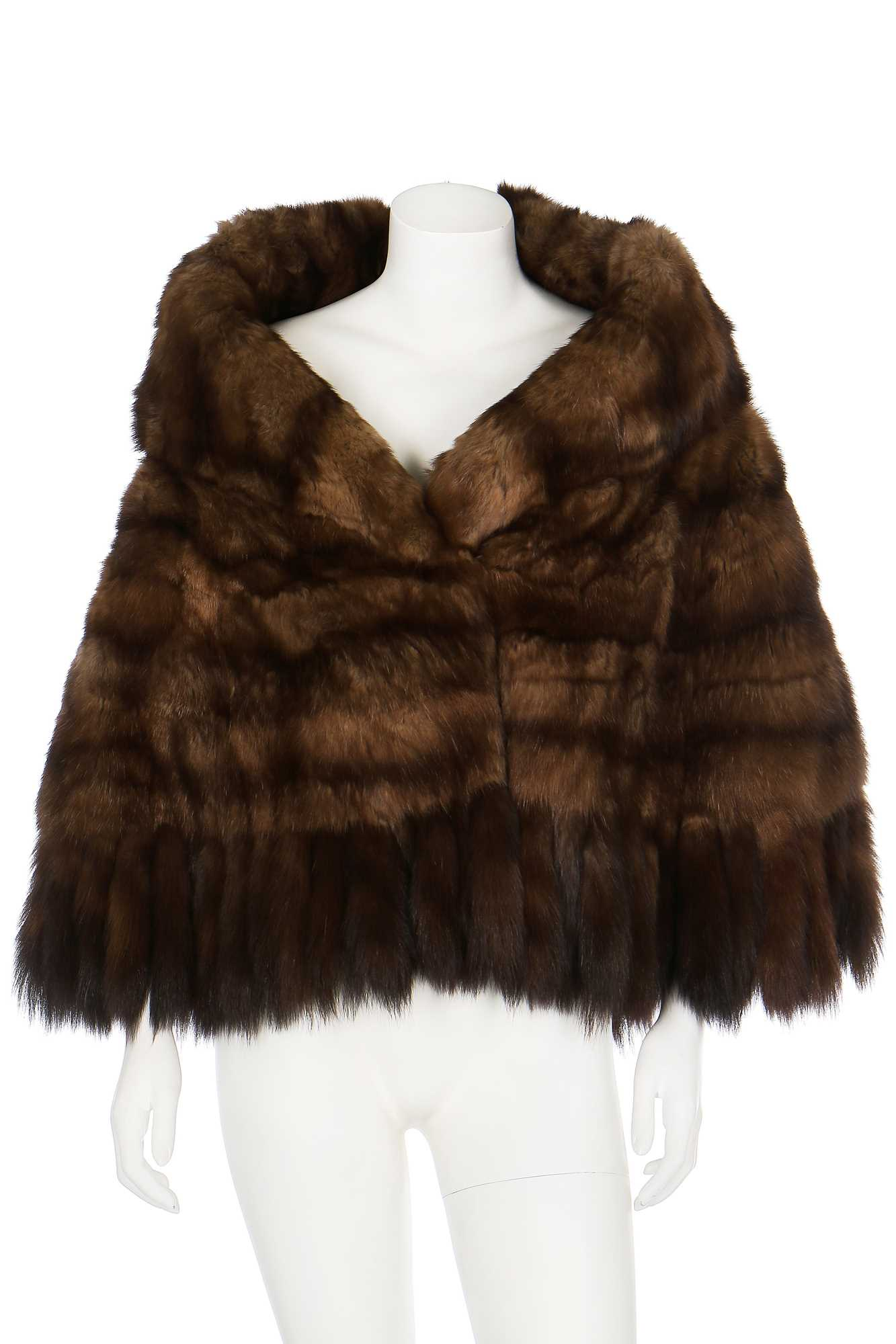 Lot 27-A brown sable cape, probably 1960s
