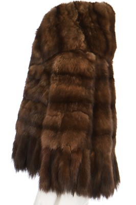 Lot 27 - A brown sable cape, probably 1960s