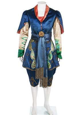 Lot 56-Diaghilev's Ballets Russes, 'Scheherazade', costume for the role of Shah Zeman, designed by Leon Bakst in 1910