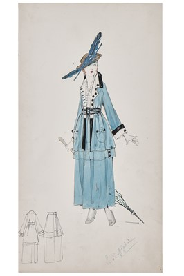 Lot 62-A Lucile fashion sketch 'Honeymoon Express' for the 1917 Sears Roebuck catalogue
