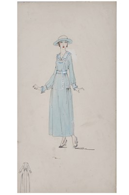 Lot 61-A Lucile fashion sketch ''Miss Ragtime'' for the 1917 Sears Roebuck catalogue