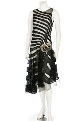 Lot 68-A Lanvin couture  'Marguerite de la Nuit' black tulle dress, 1928