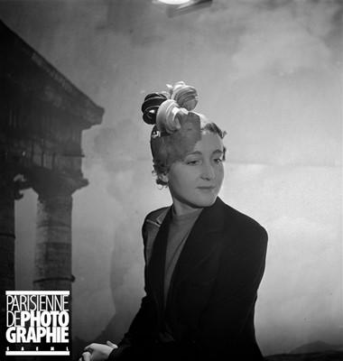 Lot 83-Two Caroline Reboux hats, circa 1936
