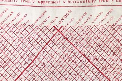 Lot 30 - A rare Peele & Simpson toll handkerchief, 1769