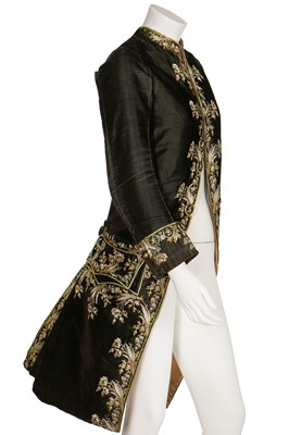 Lot 34-A gentleman's finely-embroidered tailcoat, 1780s