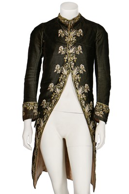 Lot 34 - A gentleman's finely-embroidered tailcoat, 1780s