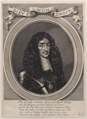 Lot 29 - A fine embroidered needle portrait of King Charles II, circa 1660