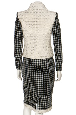 Lot 12-A Chanel contrasting monochrome tweed suit, Pre-Fall 2017