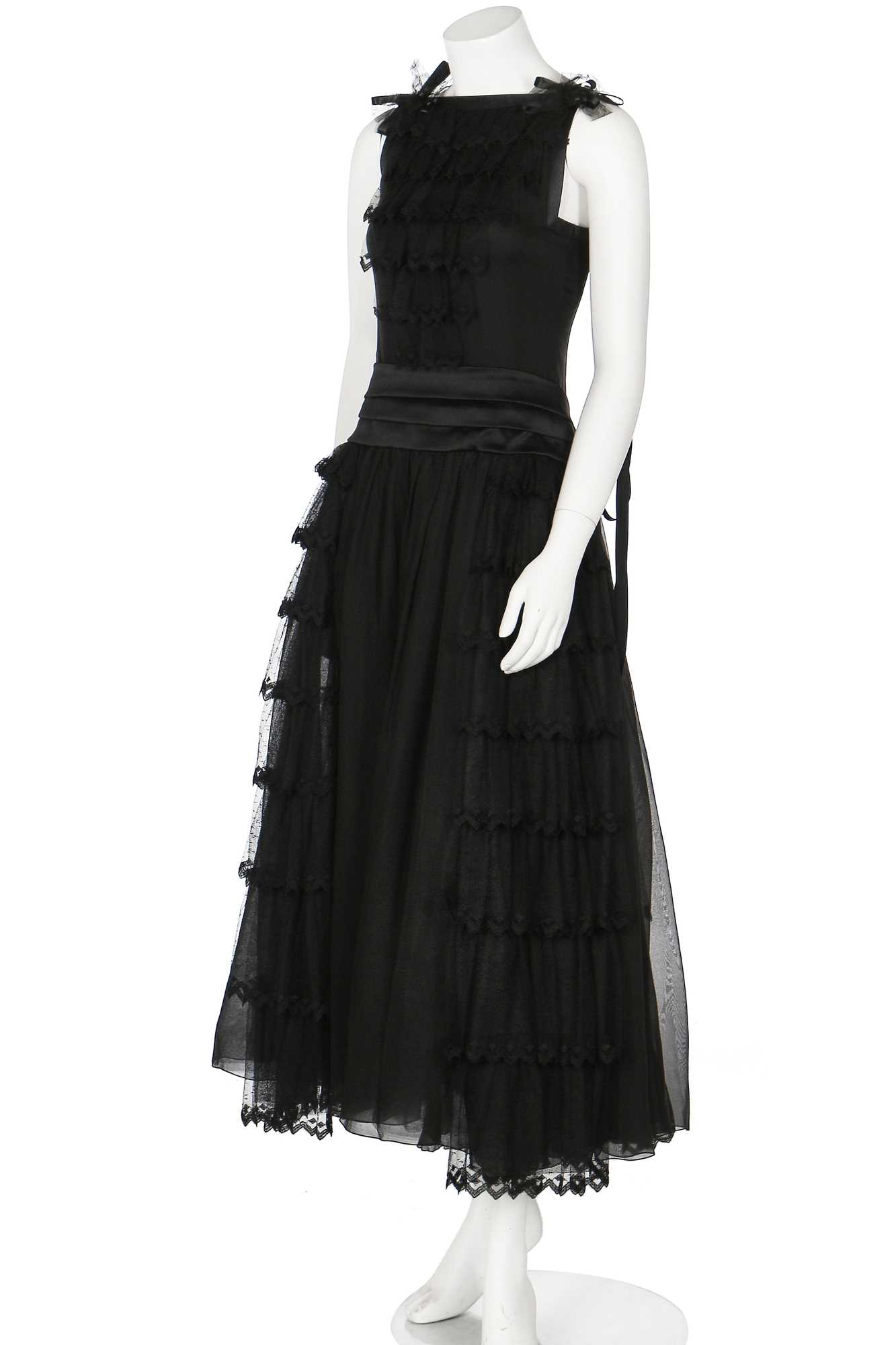 Lot 14-A Chanel black silk and spandex blend dress,  Spring-Summer 1999