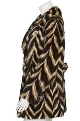 Lot 26-An intarsia mink coat in overall zig-zag design, 1960s