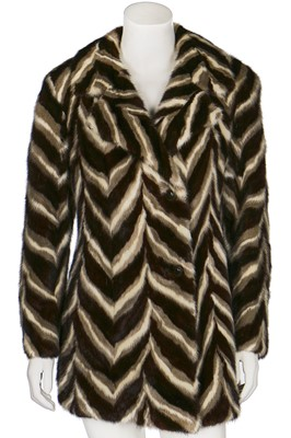 Lot 26-An intarsia mink coat in overall zig-zag design, 1960s