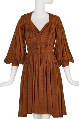 Lot 90-A Madame Grès couture wool jersey day dress, circa 1946