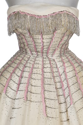 Lot 94-A Maggy Rouff beaded ballgown, mid 1950s